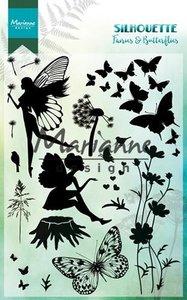 Marianne design, Clear stamp - Silhouette Elfen & vlinders CS1016 -150mmx115 mm