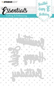 Studio Light Embossing - Die Cut Stencil - Essentials nr.163 STENCILSL163