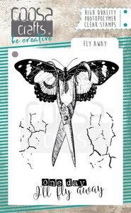 COOSA Crafts clearstamps A7 - Fly awaystamp COC-061