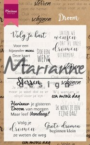 Marianne design, Clear stamp - Droom teksten NL CS1019 194x140mm
