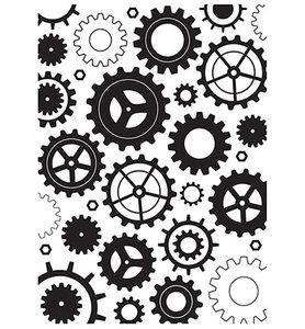 Nellie Snellen - Embossing template - 127x178mm Cogwheels