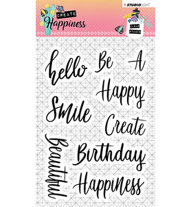 Studio Light Clear Stempel, A6, STAMPCR346 - Stamp Create Happiness nr.346